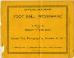"Official Souvenir Foot Ball Program, Y.M.C.B vs. Troop ""I"" 9th Cavalry."