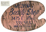 Melvina's Beauty Shop Sign