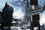 Sign for Snell's Subdivision Historic District, Denver