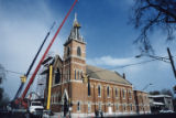 Saint Joseph Redemptorist Catholic Church restoration of tower, Lincoln Park.