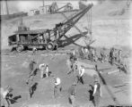 Industries - construction - steam shovel at Alameda subway