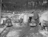 WPCD locomotives in yard