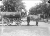 Horse-drawn water wagon