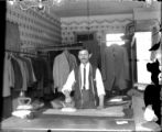 Interior of tailor's shop