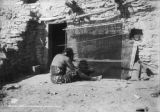 Hopi Indian blanket weaver, Ariz.