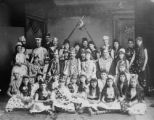Early Longmont Colorado home talent group, probably in Dickens Opera House