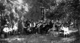 Walsenburg's orchestra: playing in the patio of the second Sporleder Hotel in 1882.