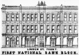 Linden St. front First National Bank Block