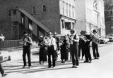 Silverton Brass Band arrived marched through town to ball park area, swimming pool, 4:00 PM.
