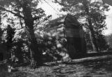 Tomb at top of Shaffers Crossing hill toward Bailey