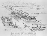 Trail City, Colorado, Kansas Territory, Trail City as it might have looked in 1886