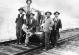 Japanese railroad workers