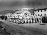 "Ski troops parade in ""whites"" at Camp Hale, Colorado"
