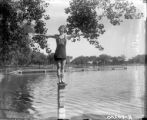 A Denver High School swimmer at Washington Park