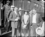 Champion boxer Jack Dempsey at Union Station