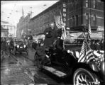 President Theodore Roosevelt riding up 17th Street