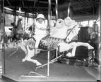 Child on merry-go-round