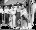 Boxing champion Max Baer and buddies