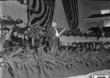President William Howard Taft making speech at city auditorium