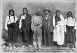 Taos Pueblo indian council and J. S. Candelario.