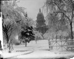 Denver's Capitol building in the snow
