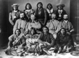 After the conclusion of the Brunot Treaty of 1873, Ouray, subchiefs, white friends, brought to...