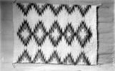 Navajo blanket white, grey, brown