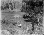 Couple at beaver pond