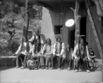 San Juan Indians at cliff dwelling at Manitou, Colo.