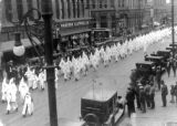 Parade in Denver proceeding a convention of Klansmen