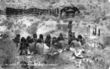 Breakfasting near altar Hopi Indians