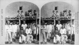 "Group of Zuni Indian ""braves,"" at their Pueblo, N. M."