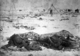 Birds eeye [i.e. eye] view of battlefield at Wounded Knee S. D. looking north