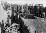 Bureal [i.e. Burial] of the dead at the battlefield of Wounded Knee S.D.