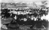 Grand Council of the friendly and hostile Indian chiefs at Pine Ridge Agency S.D., Chief Kicking...
