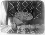 Papago baskets and Navajo blanket