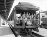 "Pullman ""Four-Poster"" open-platform, 10 section observation sleeper in service on..."