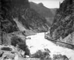 Central Colorado Power Co. hydro-electric generating plant in Glenwood Canon, Colorado