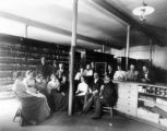 Interior of City Library / Mercantile Library - receiving room  - Chamber of Commerce Building -...
