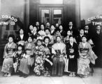Group of Japanese women, men and young girls