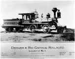 Denver & Rio Grande R.R. Locomotive No. 1
