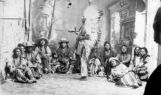 Chief Washakie in council