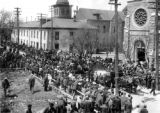 Line of funeral march of Ludlow victims