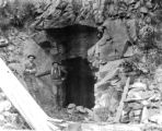 A prospector's claim tunnel entrance Eureka.
