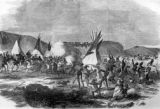 The Sioux War - cavalry charge of Sully's brigade at the Battle of White Stone Hill