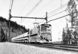 Double tracks allow quick return of empty ore trains over the 14.2 mile trip from the mill to the...