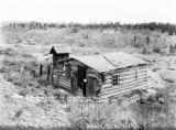 Frist [sic] miners cabin in California gulch where millions in gold was taken out