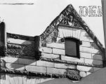 "Top of ""house"" with carving at 1842 [sic] Market"
