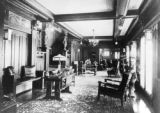 Reception hall looking north toward dining room, built 1912, still standing 1923 [Frederick...