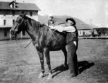 Joseph Block and granddaughter, Ernestine in Crested Butte